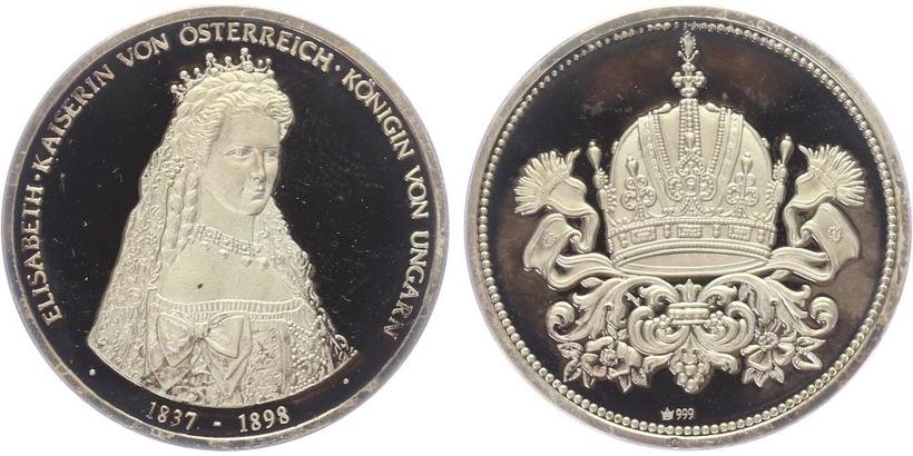 AR Medaile 1998 - Císařovna Alžběta - Sisi, PROOF