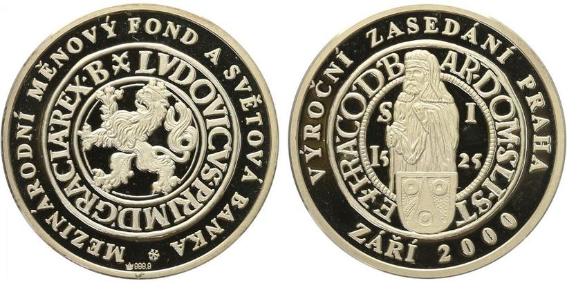 AR Medaile 2000 - Mezinárodní měnový fond, PROOF