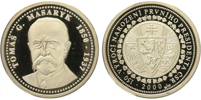 AR Medaile 2000 - Masaryk, PROOF