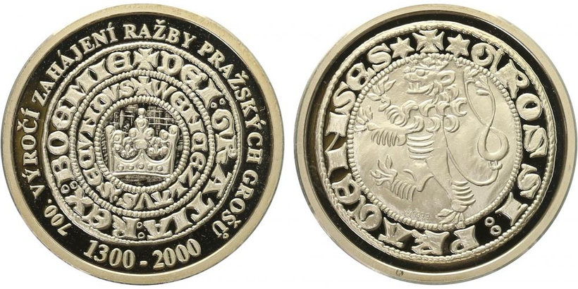 AR Medaile 2000 - Pražské groše, PROOF