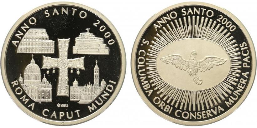 AR Medaile 2000 - Svatý rok, PROOF