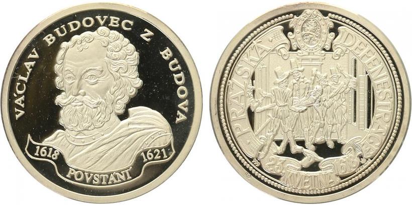 AR Medaile b.l. - Stavovské povstání - Václav Budovec Budova, PROOF