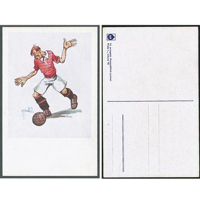Sport - Karikatura fotbalisty