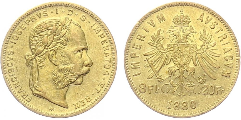 František Josef I. - 8 Zlatník 1880