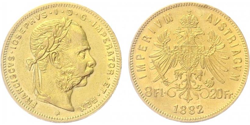 František Josef I. - 8 Zlatník 1882
