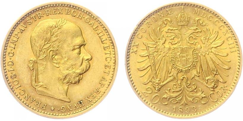 20 Koruna 1893 b.z.