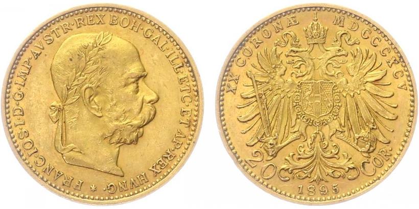 20 Koruna 1895 b.z.