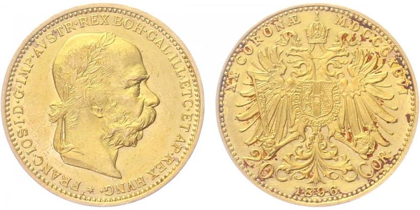 20 Koruna 1896 b.z.