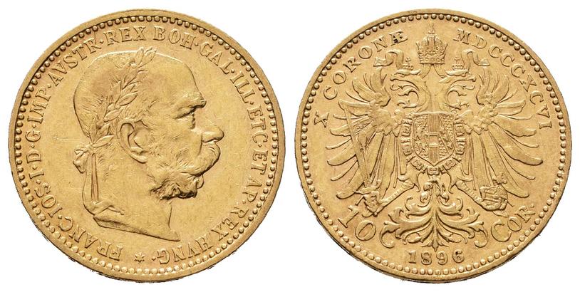 10 Koruna 1896 b.z.