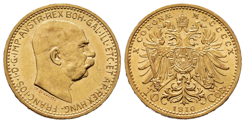10 Koruna 1910 b.z.
