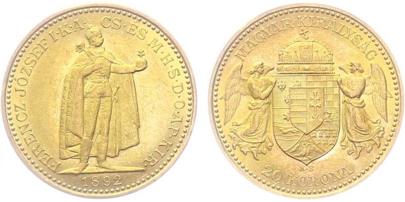20 Koruna 1892 KB