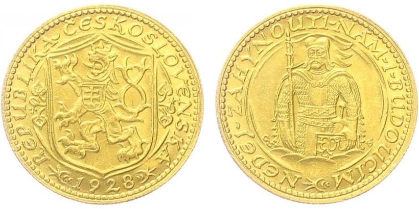 Československo - Svatováclavský 1 dukát 1928