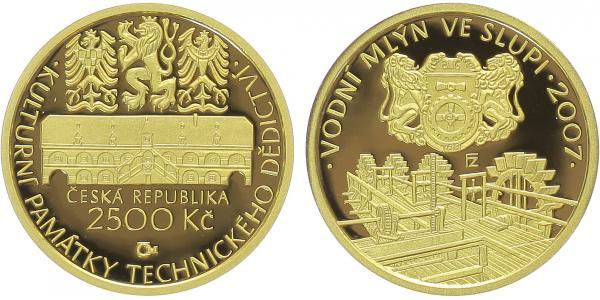 2500 Kč 2007 - Vodní mlýn ve Slupi, PROOF