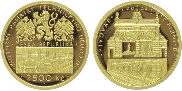 2500 Kč 2008 - Pivovar v Plzni, PROOF