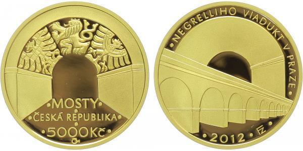 5000 Kč 2012 - Negrelliho viadukt v Praze, PROOF, bez certifikátu