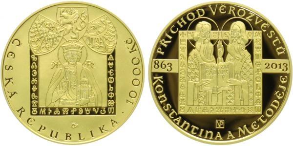 10000 Kč 2013 - Příchod věrozvěstů Konstantina a Metoděje, PROOF + DÁREK !