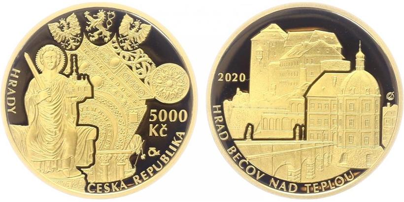 5000 Kč 2020 - Hrad Bečov, PROOF