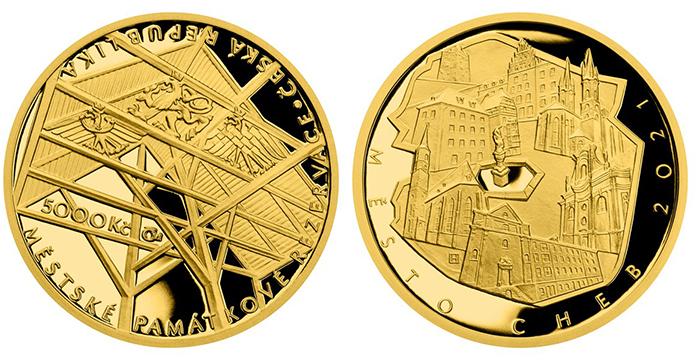 5000 Kč 2021 - Památková rezervace Cheb, PROOF