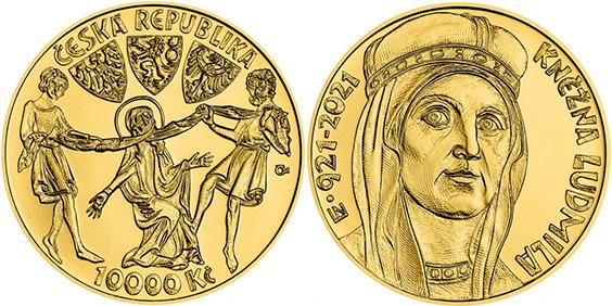 10000 Kč 2021 - 1100. výročí úmrtí kněžny Ludmily, bk