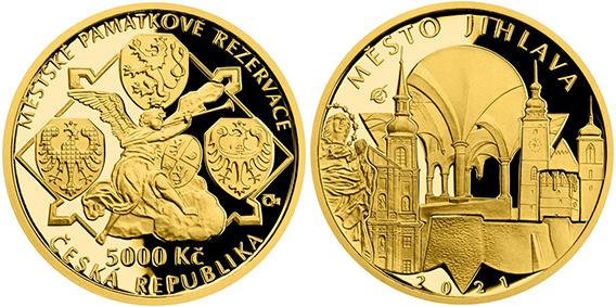 5000 Kč 2021 - Památková rezervace Jihlava, PROOF