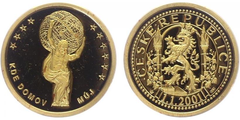 AR Medaile 2001 - Kde domov můj - Klementinum, PROOF