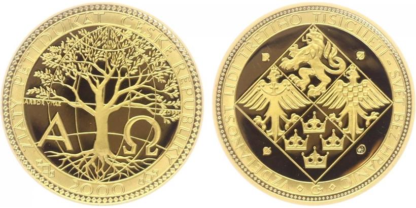 Medaile - Pětidukát ČR 2000, PROOF