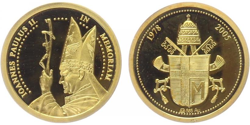 Medaile 2005 - Papež Jan Pavel II., PROOF