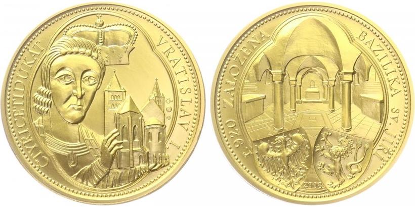 Číslovaná medaile 2008 - 40 dukát Vratislava I.