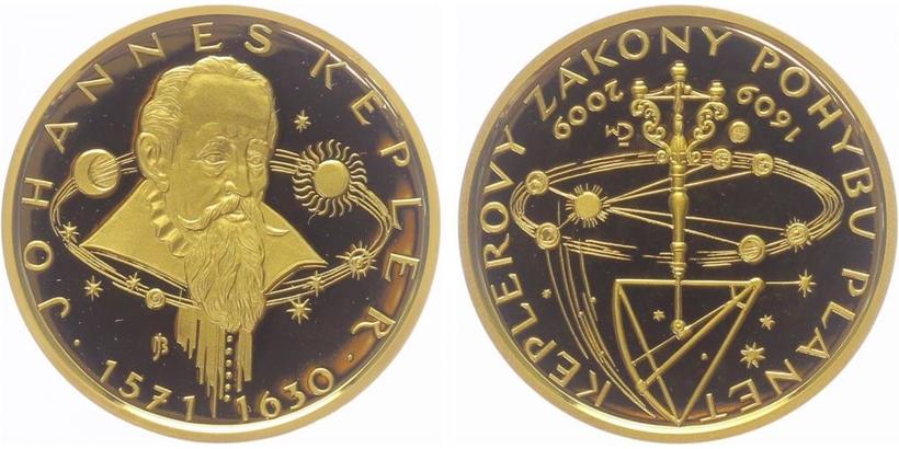 Medaile 2009 - Keplerovy zákony, PROOF