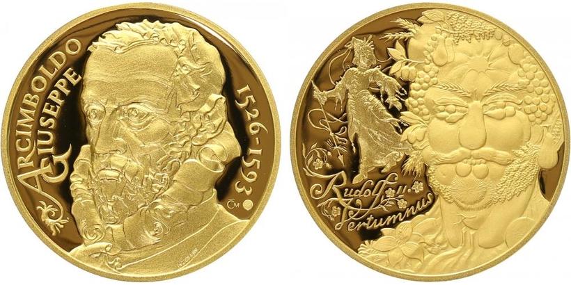Medaile 2009 - Giuseppe Arcimboldo, Rudolf II. / Vertumnus, PROOF