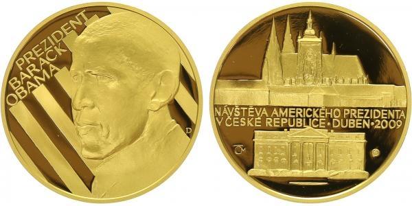 Medaile 2009 - Barack Obama, Au 0,9999 (31,1 g), PROOF