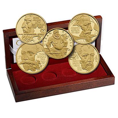 Sada 4 kusů medailí se společným reversem 2009 - Doba Rudolfa II.