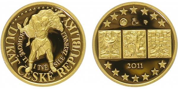 AR Medaile 2011 - Jednodukát ČR - Pověst o Bivoji, PROOF