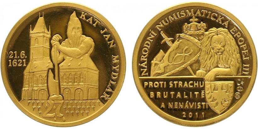 Číslovaná medaile 2011 - Kat Mydlář - Národní numismatická epopej, PROOF