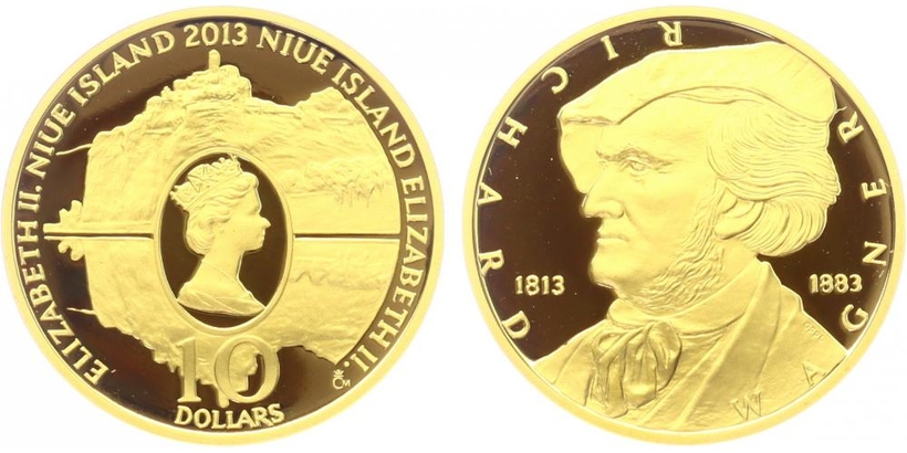 10NZD 2013 - Richard Wagner, PROOF