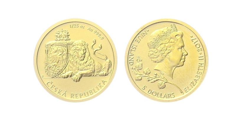 Mince 5 Dollars 2017 - Česká republika
