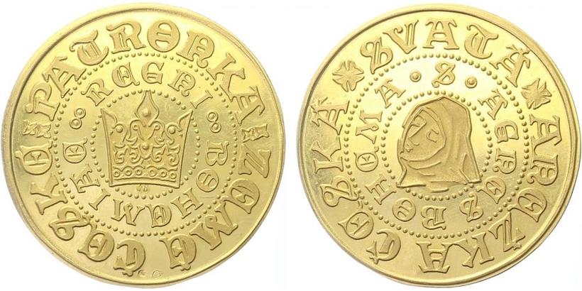 Medaile b.l. - Svatá Anežka česká, PROOF
