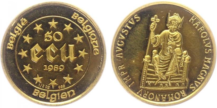 50 Ecu 1989 - Augustus - císař římský