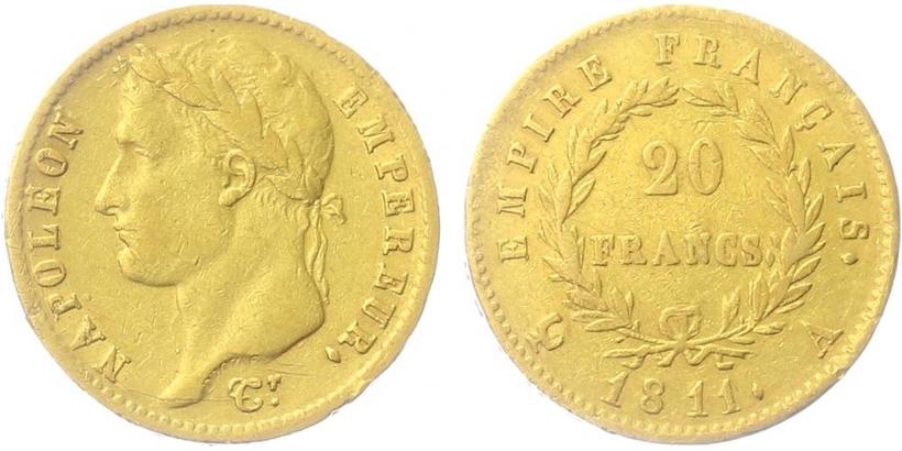 20 Frank 1811 A, Paříž