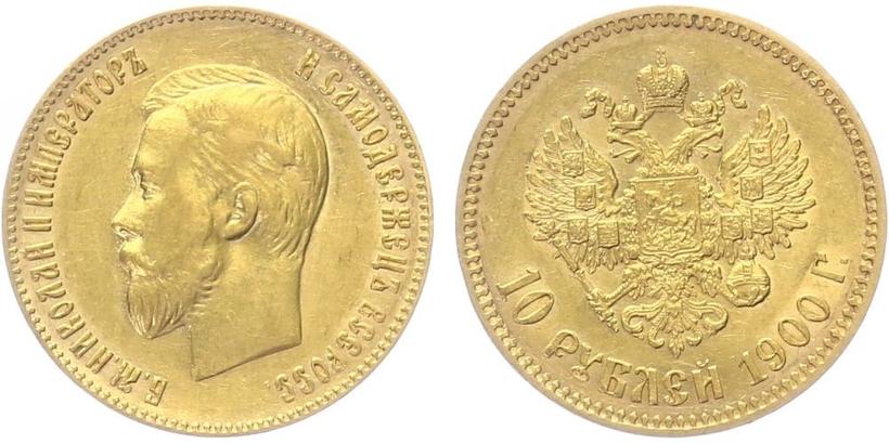 10 Rubl 1900