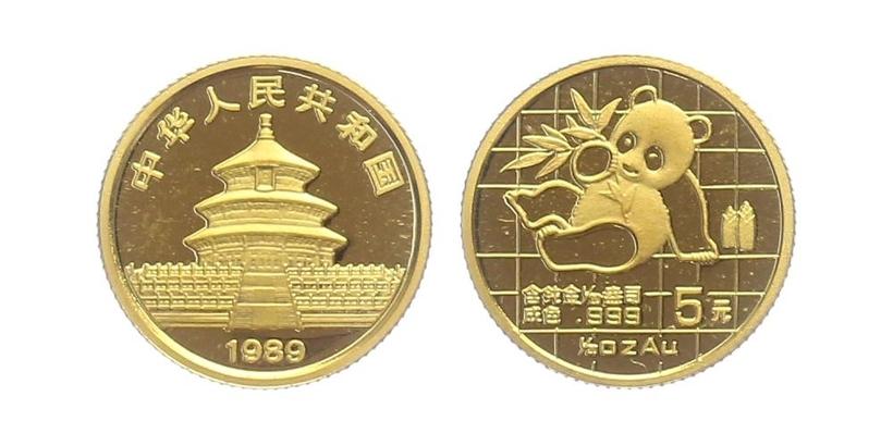 5 Yuan 1989 - Panda, PROOF