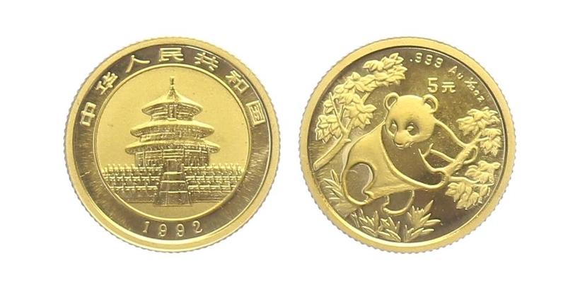 5 Yuan 1992 - Panda, PROOF