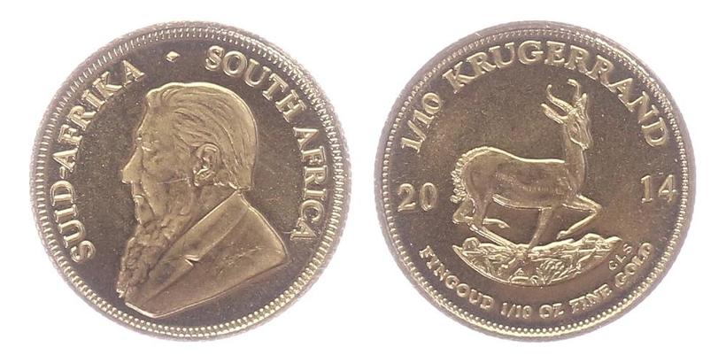 Jihoafrická republika, Krugerrand 2014, 1/10 OZ, PROOF