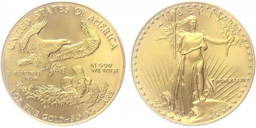 USA, 50 Dollar 1987 - Liberty, 1 OZ