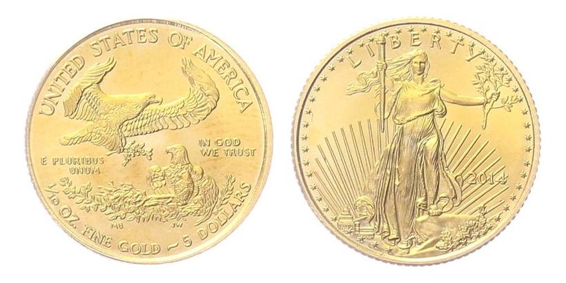 5 Dollars 2014 - Liberty