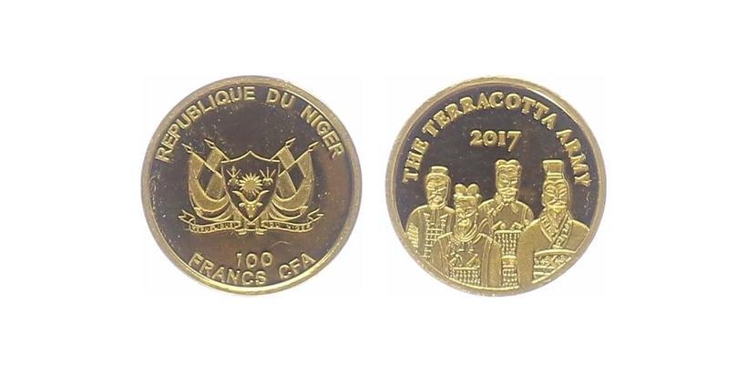 100 franků 2017 - Terakotová armáda, PROOF