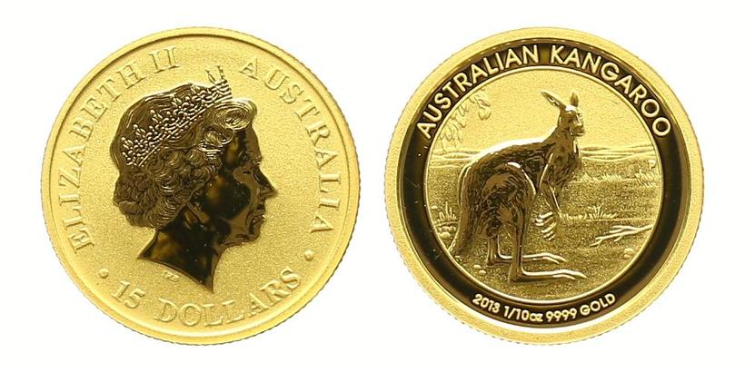 Austrálie, 15 Dollar 2013 - Australský klokan
