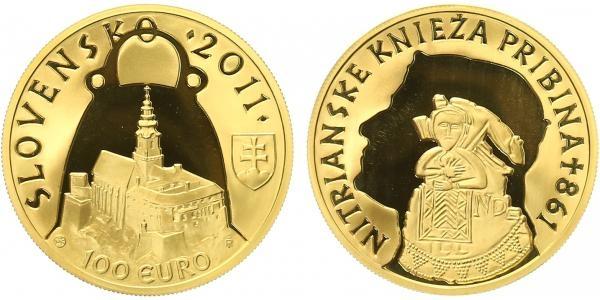 100 EURO 2011 - Kníže Bribina - 1150. výročí úmrtí, PROOF