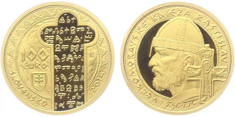 100 EURO 2014 - Velkomoravský kníže Rastislav, PROOF