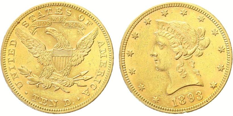 10 Dollar 1893